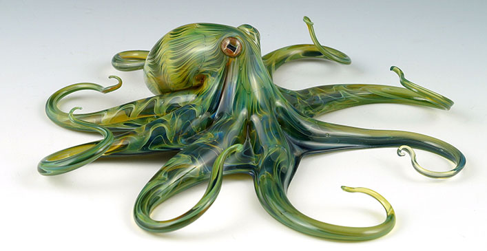 Green Rippleback Octopi