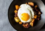 Brussels Sprouts and Chorizo Beer Hash