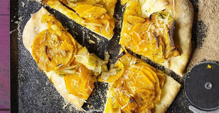 Butternut Squash Pizza with Rosemary