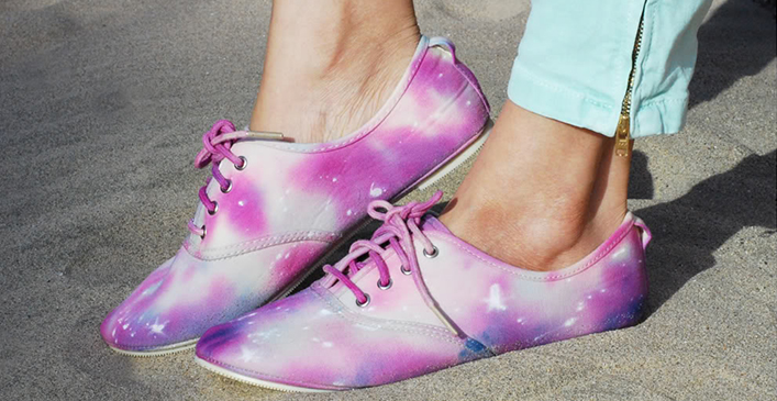 Tie Dye Galaxy Shoes